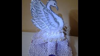 getlinkyoutube.com-Best Our Of Waste Plastic Cans Converted to Royal Swan Showpiece