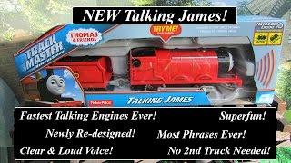 getlinkyoutube.com-Thomas & Friends Toy Train-New Talking Trackmaster Motorized James!