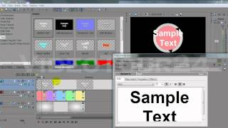 Sony Vegas Tutorial - 3D Countdown & Utilization of Cookie cutter