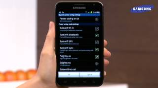 getlinkyoutube.com-Samsung Galaxy Note - Power Saving Mode and Device Management