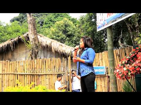 Modern Mizo song performed by local singer - Aizawl