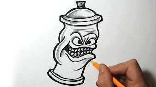 getlinkyoutube.com-How to Draw a Spraycan Character