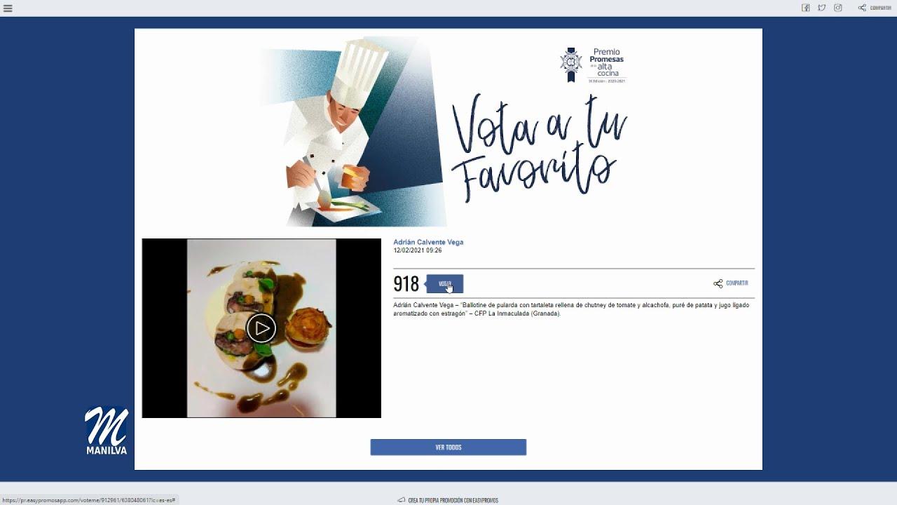 Adrián Calvente, participa en el concurso «Le Cordon Bleu»