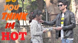 getlinkyoutube.com-Do You Think Im Hot? Girl Asks Strangers Prank