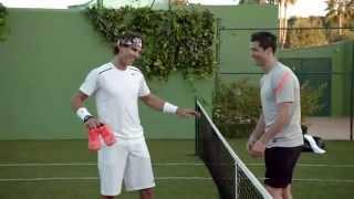 getlinkyoutube.com-Cristiano Ronaldo vs Rafa Nadal in Nike Commercial