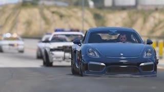 getlinkyoutube.com-GTA 5 - 2016 Porsche Cayman GT4 Epic Police Chase (Cinematic)