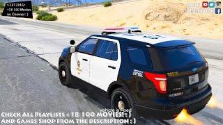 getlinkyoutube.com-LAPD 2014 Ford Explorer Police Interceptor Utility - GTA V MOD | 2.7K / 1440p !