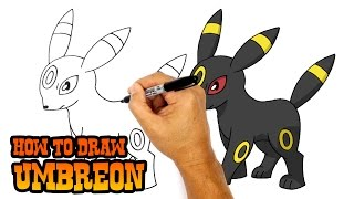 getlinkyoutube.com-How to Draw Umbreon (Pokemon)- Art Lesson for Kids