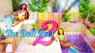 getlinkyoutube.com-DIY - How to Make: Doll Swimming Pool 2 - Handmade - Doll - Crafts