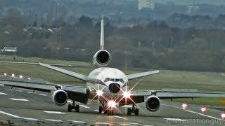getlinkyoutube.com-Biman Bangladesh DC-10 External View Takeoffs & Landings - Birmingham Airport with ATC