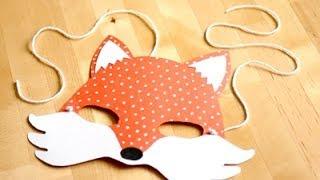 getlinkyoutube.com-Disfraz casero: máscara de zorro