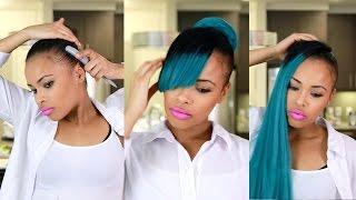getlinkyoutube.com-Faux Bangs Protective style from Start to finish! | Beauty2Bar