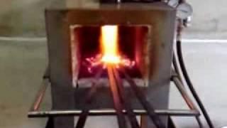 getlinkyoutube.com-HORNO PARA FORJA - FORGE KILN - GAS FORGE - IDETER HF2V