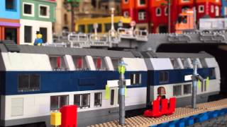 getlinkyoutube.com-Lego train system and city port