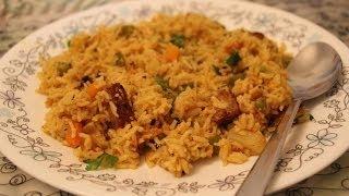 getlinkyoutube.com-Vegetable Pulao Recipe