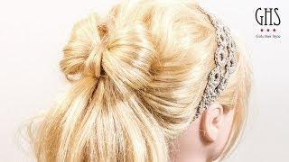 getlinkyoutube.com-Natural ribbon ponytail:リボンヘアアレンジ