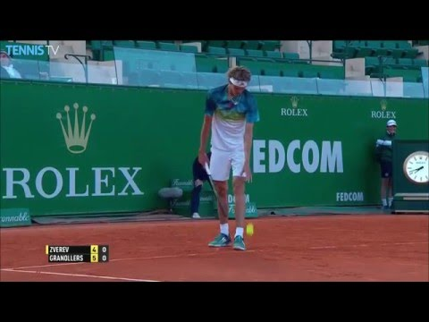Granollers Sneaks Hot Shot Past Zverev Monte Carlo 2016