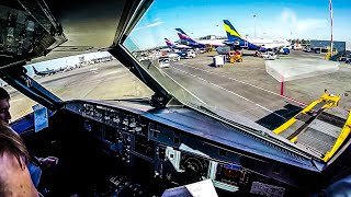getlinkyoutube.com-BEAUTIFUL Cockpit Takeoff from Moscow [UUEE] Airbus A320