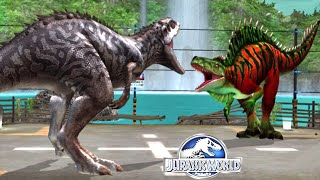 getlinkyoutube.com-Jurassic World™ The Game: Max Level Fantasy Dinos Fight