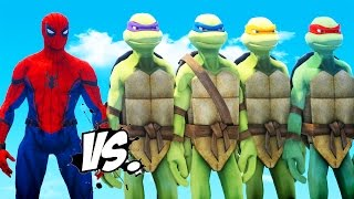 getlinkyoutube.com-SPIDERMAN VS TEENAGE MUTANT NINJA TURTLES - EPIC BATTLE