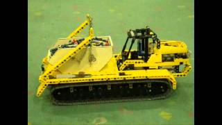 getlinkyoutube.com-Lego Technik Absetzkipper auf Raupenfahrwerk