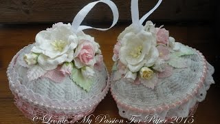 getlinkyoutube.com-Shabby Chic Christmas Ornaments Tutorial ~ Lavish Laces DTP