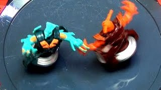 getlinkyoutube.com-Beyblade SS Beywarriors Fire Vs Water Element Battles in Octagon Showdown Stadium