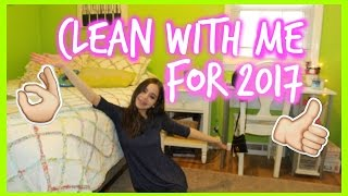 Clean & Organize My Room With Me For 2017!