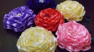 getlinkyoutube.com-D.I.Y. Satin Ribbon Camellia Flower - Tutorial | MyInDulzens