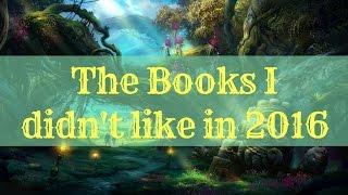 Books I didn't like in 2016