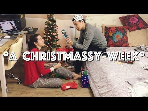 A Christmassy Week in Korea 🎄국제커플의 크리스마스 파티 & 보정동 카페거리 & 비모 채널 (자막 CC)