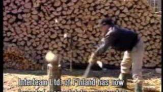 getlinkyoutube.com-nordic splitting, new way to split wood
