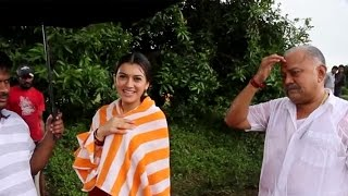 getlinkyoutube.com-Aranmanai 2 climax song shooting spot