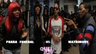 getlinkyoutube.com-BABS BUNNY & VAGUE presents QUEEN OF THE RING PHARA FUNERAL vs MATRIMONY