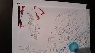 getlinkyoutube.com-Drawing Goku vs Frieza on Namek - Kamehameha [DragonBall Z] HD