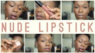 getlinkyoutube.com-*2015 NEW* Nude Lipstick + Swatches | Destiny Godley