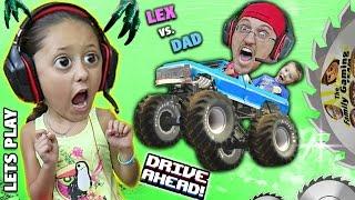 getlinkyoutube.com-MONSTER TRUCKS ON MY HEAD!  Duddy vs. Lex!  Lets Play DRIVE AHEAD! (FGTEEV Crashing Stunt Vehicles)