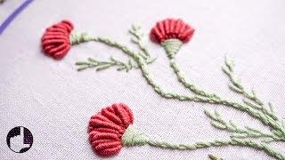 Hand Embroidery | Flower Designs for Dresses | HandiWorks #56