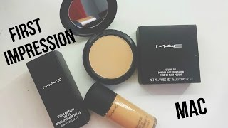 getlinkyoutube.com-MAC Studio Fix Fluid & MAC Studio Fix Powder Plus Foundation- First Impression Review + Demo