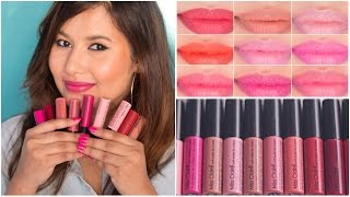 getlinkyoutube.com-Miss Claire Soft Matte Lip Cream Swatches | Sonal Sagaraya