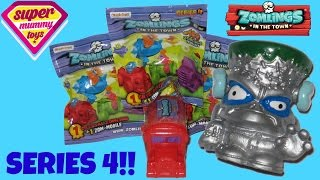 getlinkyoutube.com-Zomlings Series 4 Zom Mobiles Blind Bags with Bus and Ultra Rare Silver Zomling!