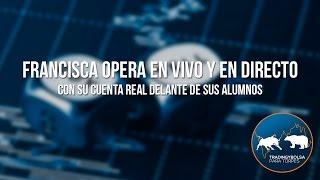 Francisca Serrano opera en vivo con su cuenta real delante de sus alumnos