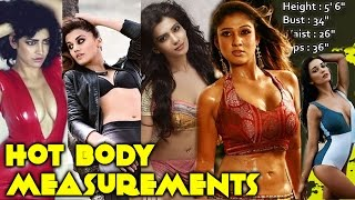 getlinkyoutube.com-Actress Hot Body Measurements   Which One Is For You?   Tamanna Bhatia, Kajal Agarwal   South Indian