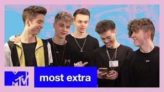 Why Don't We React To Their Instagram Comments   Most Extra   MTV