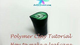 getlinkyoutube.com-Polymer Clay Tutorial - How to Make a Leaf Cane - Lesson #13