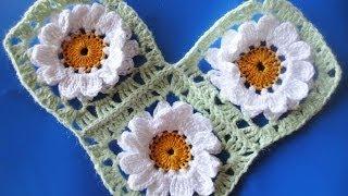 getlinkyoutube.com-Соединение квадратных мотивов  Compound square motifs Crochet