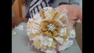getlinkyoutube.com-How to make Easy Shabby Chic Flowers