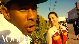 "getlinkyoutube.com-Kendall Jenner; Tyler, The Creator; and Travis ""Taco"" Bennett Take Over the Vogue Set"