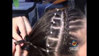 getlinkyoutube.com-Espectacular Peinado conTrenzas y cauchitos.