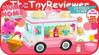 getlinkyoutube.com-Num Noms Lip Gloss Truck Playset Craft Kit Unboxing Toy Review by TheToyReviewer